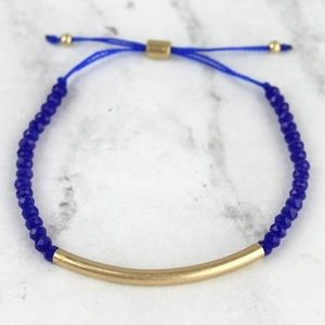 Jewelry - IT'S HERE! Goldtone Tone and Royal Blue